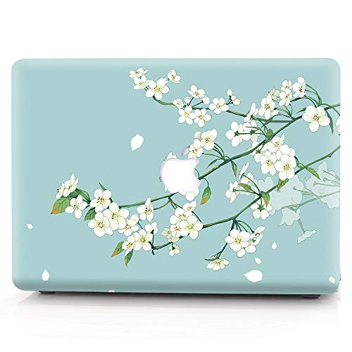 RQTX Case for Older Version MacBook Pro 13 Inch Model A1425&A1502,Creative Pattern Shell Plastic Cover Case for Macbook Pro 13 Inch(Released in 2012~2015) ,Pear Flower