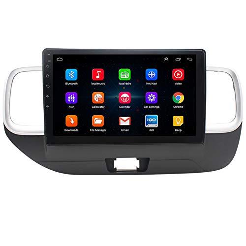 Android 9.1 8 Core 2.5D Pantalla Car Radio estéreo navegación por satélite radio DVD Control del volante Reproductor de video multimedia Navegación GPS para Modern venue (2017+) RHD(Color:WiFi 1G+16G)