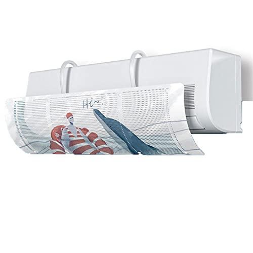 Aire acondicionado Baffle Telescópico, Cubierta de aire acondicionado Parabrisas Ayuda a la circulación de aire de calefacción de refrigeración, soplado anti-recto, antiástico, deflector y dirección d