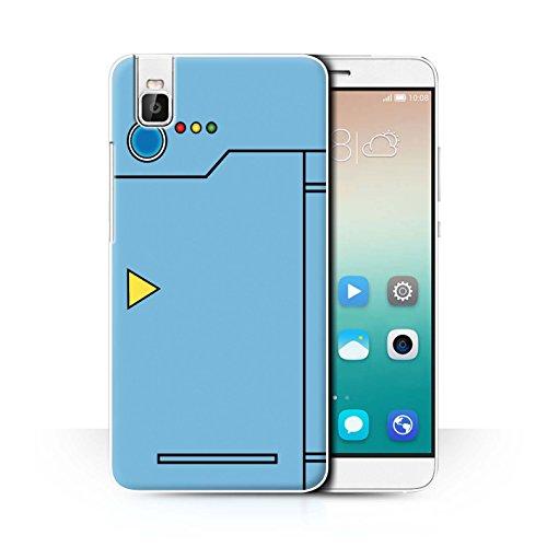 Stuff4® Hülle/Case für Huawei Honor 7i/ShotX/Blau Muster/Anime Cartoon Kodex Kollektion