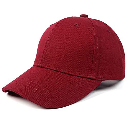 Yixda Baby Kinder Solide Baseball Kappe Junge Mädchen Outdoor Snapback Sport Cap (Weinrot)