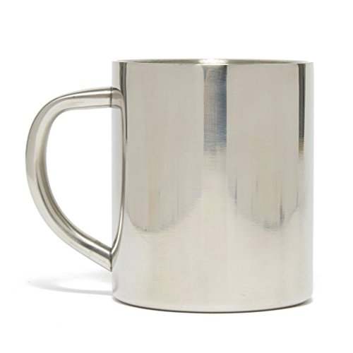 Lifeventure Stainless Steel Camping Mug Tasse Unisex-Adult, Silver Taille Unique
