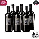Mas Amiel 20 ans d'âge Rouge - Appellation AOC Maury - Vin Doux Rouge du Languedoc - Roussillon - Cépages Grenache, Macabeu, Carignan - Lot de 6x75cl