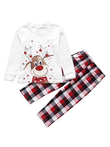 Carolilly Completo Famiglia, Vestiti Natalizi in Maglieria per Uomo Donna e Bambini, Felpa Stampa da Cerve Coordinati per Autunno e Inverno (Bimbo, 4-5 Anni)