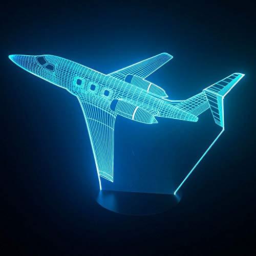 Nur 1 Jet Air Plane 3D LED Lampe Farbe 3D Nachtlicht Baby Schlafzimmer Tischlampe Touch USB Schreibtischlampe Kids Holiday Gift Home Deco