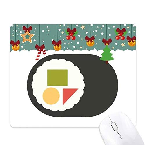 Traditionele Japanse lokale Maki Sushi muismat spel Office Mat Kerstmis Rubber Pad