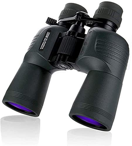 FDABFU 10-30X50 Binoculares BAK4 Prisma Lente óptica Telescopio de luz de pájaro de Alta Potencia, para Interior/Exterior