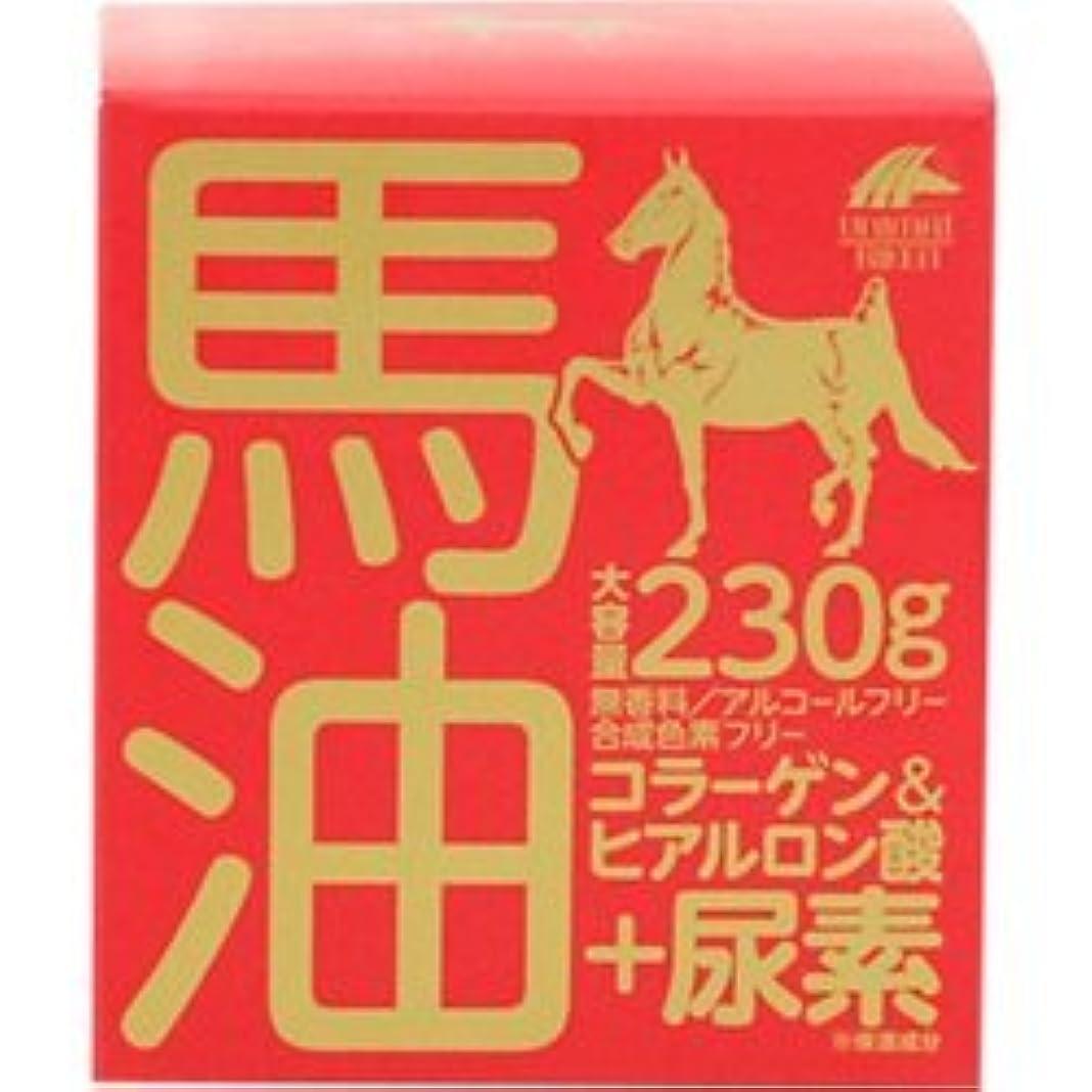アミューズ社会科粗い【ユニマットリケン】馬油クリーム+尿素 230g ×10個セット