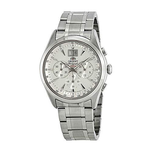 Orient Classic Chronograph White Dial Men's Watch FTV01003W