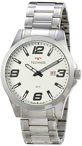 Relógio Technos, Pulseira de Aço Inoxidável, Masculino Prata 2115MOLS/1B