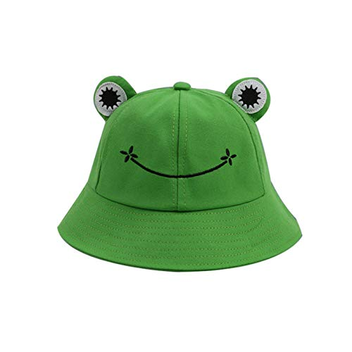 RHG Sombrero de Cubo de Rana para Niños Adultos Sombrero de Sol de Cubo de Pescador de Rana Unisex Plegable para Pesca Senderismo Camping