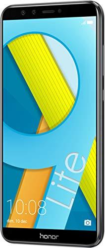 """Honra 9 Lite Smartphone, Tela 5.65 """"FHD +, 4 GB RAM, Câmera Dupla 13 e 2 MP, 64 GB, Preto [Itália]"""