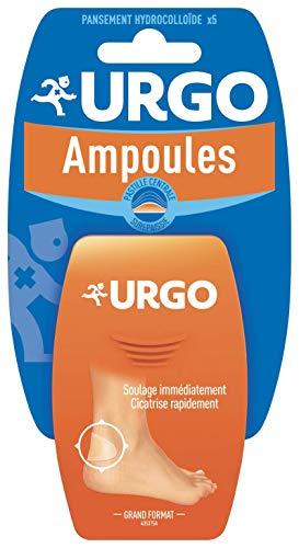 Urgo - Traitement Ampoules - Pansement hydrocolloïde - Grand format Résistant à l'eau - x5 pansements