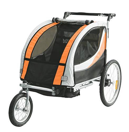 Tiggo Kinderfahrradanhänger Fahrradanhänger Jogger 2in1 Anhänger Kinderanhänger JBT03N-D03 902-D03