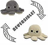 Pulpo Peluche Reversible – Juguete de Peluche para Niños – Peluche de Felpa Doble Cara – Flip Octopus – Peluche Pulpo Reversible – Muñeco de Peluche – Feliz y Enfadado - Peluche San Valentin