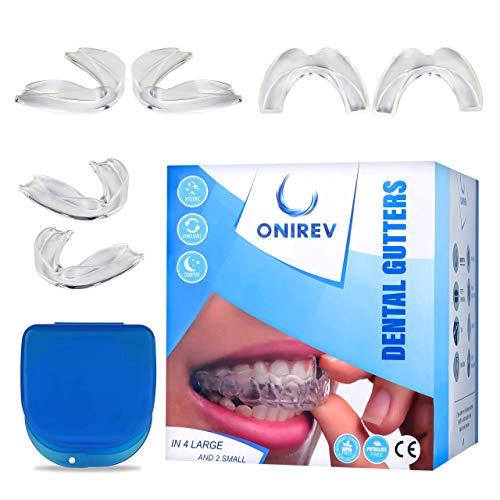 [6 en 1]Férula dental anti bruxismo - dispositivo profesional - Termosensible - nocturno - tratamiento ATM - evita el rechinar de los dientes - adultos y niños - Garantía de satisfacción al 100%