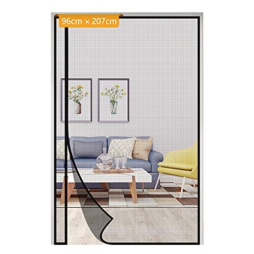 玄関 網戸 片開き戸ドア用網戸 虫、蚊、ハエなどを避ける マグネット式網戸 自動的に閉める 夏に涼しい 省エネ 適用ドアのサイズ:96*207cmブラック