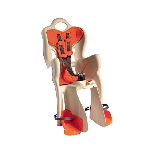 BELLELLI Seggiolino Bici posteriore B-One Standard beige/arancione