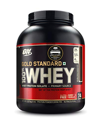 Optimum Nutrition (ON) Gold Standard 100% Whey Protein Powder - 5 lbs, 2.27 kg (Double Rich...