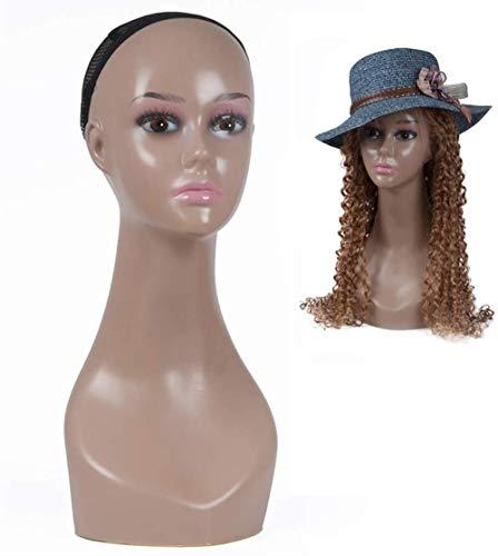 JYHW Tête de mannequin femme pour perruque, chapeau, écharpe, bijouterie, décoration de centre commercial, accessoire de tête en polyéthylène (couleur : 2)