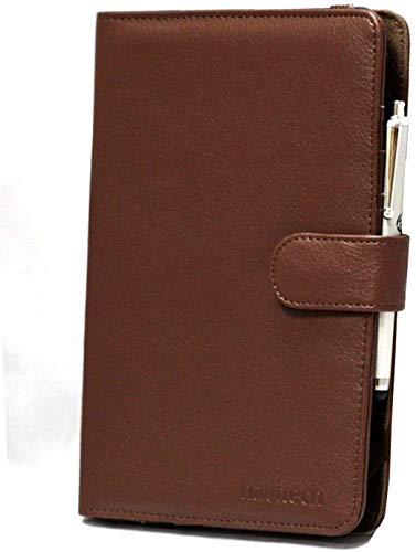 Navitech Brown Bycast Leather Flip Open 7 Inch Book Style Carry Case/Cover Compatible With The Acer Iconia One 7 B1-780