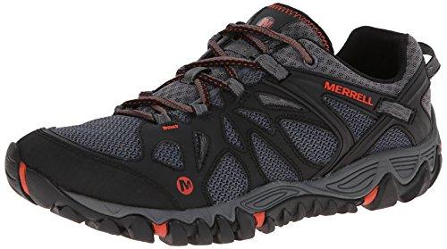 Merrell メンズ オールアウト ブレイズ エアロスポーツ ハイキング ウォーターシューズ, ブラック/レッド, 24