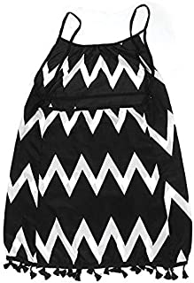 Baiepen Fashion Wavy Strip Female Midi Dress Graceful Braces Shoulder Lady Dress Tassel Hem Women Summer Dress Chiffon Bea...