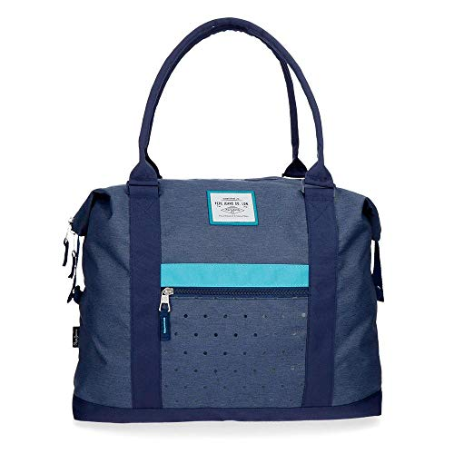 Pepe Jeans Molly Travel bag Blue 42x34x15 cms Polyester 21.42L