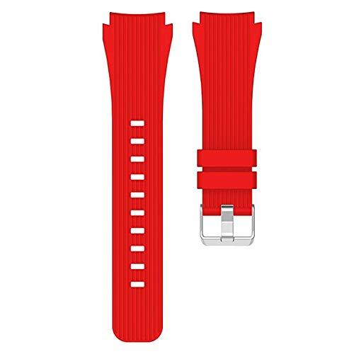 iGlobalmarket Correa de Repuesto Universal, 20 mm, Pulsera reemplazo Ajustable, Compatible con Amazfit Bip/GTS/Bip Lite Goma Rojo