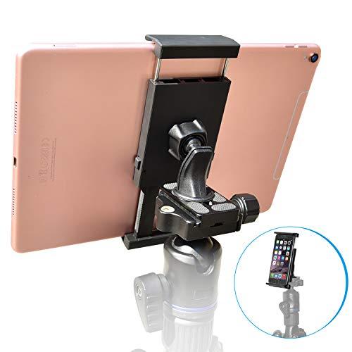 Universal Tablet Stativ Halterung Halter Clip Mount Adapter kompatibel mit Selfie Stick Stange Kamera Stativ Tri-pod, Inklusive 1/4