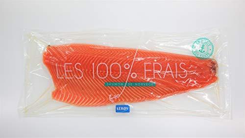 Filet de Saumon Atlantique (Salmo salar) AVEC peau sans arête sous vide 1 pièce