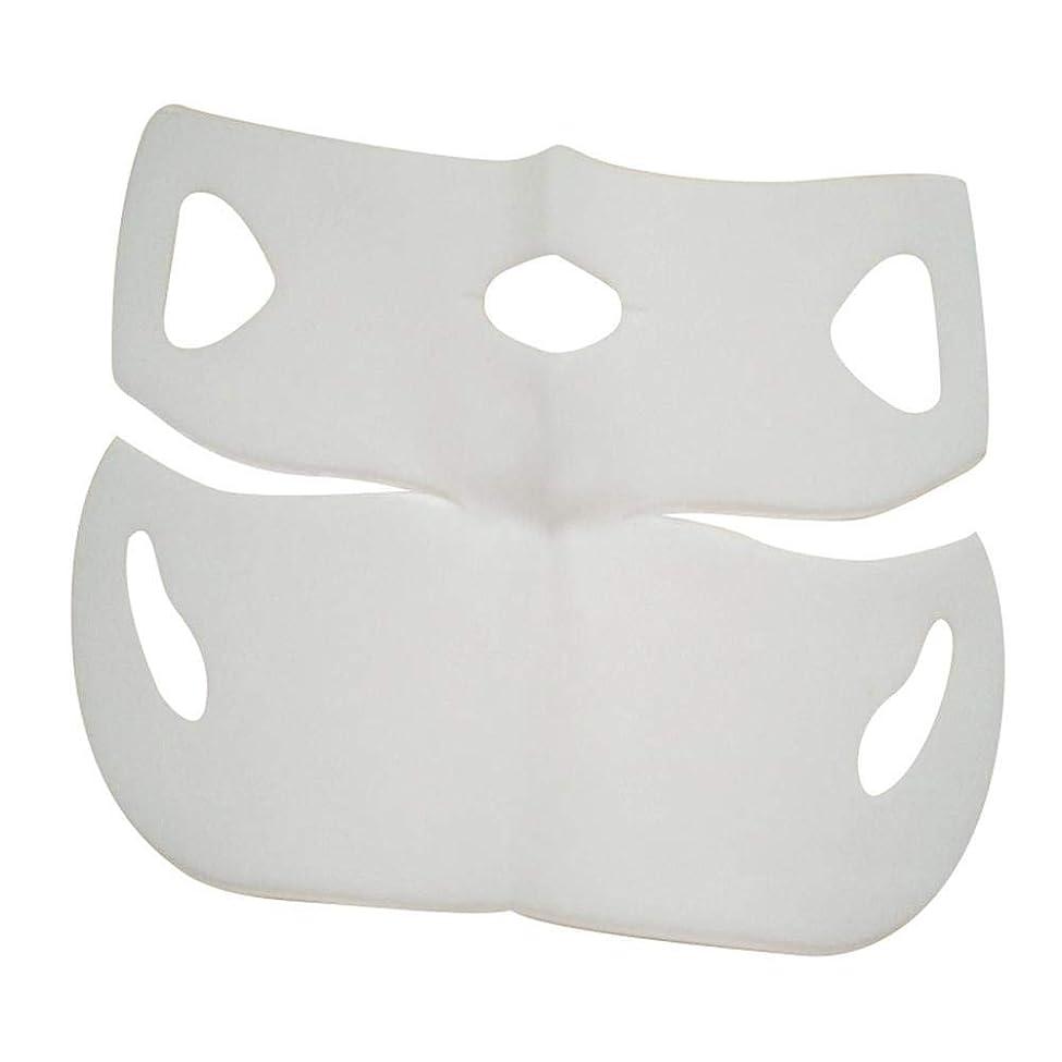 弾力性のある前反響するSILUN 最新型 4D Vフェイシャルマスク フェイスマスク 小顔 マスク フェイスラインベルト 美顔 顔痩せ 肌ケア 保湿 毛細血管収縮 睡眠マスク