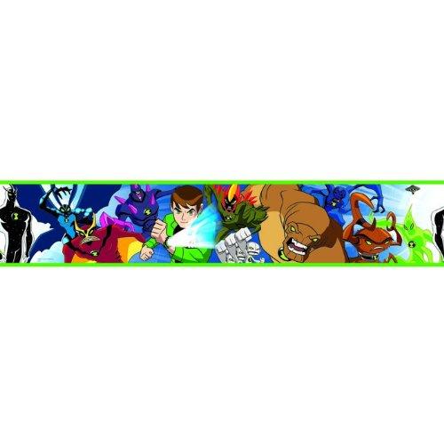 Originele Ben 10 Ultimate Alien Force behang wandrand lengte 5 meter x breedte 12 cm boord zelfklevend NIEUW 2012