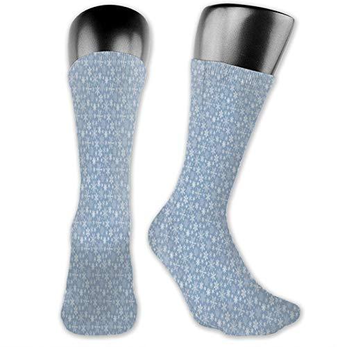Snowflakes Chr*ist*mas On Cyan Blue Trainer - Calcetines deportivos para correr para hombres y mujeres y señoras, elásticos delgados y transpirables