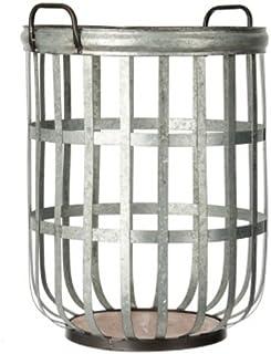 S A Brass Galvanized Tin Basket / Bucket / Planter / Container (Size: 41.3*40.6*53.3cm)
