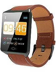 Gelrova Fitnessarmband, horloge met bloeddrukmeting, hartslagmeter, IP68 waterdicht, 1,3 inch HD smartwatch, stappenteller, horloge, activiteitstracker, voor kinderen, vrouwen, mannen, sms, push voor iOS en Android telefoon