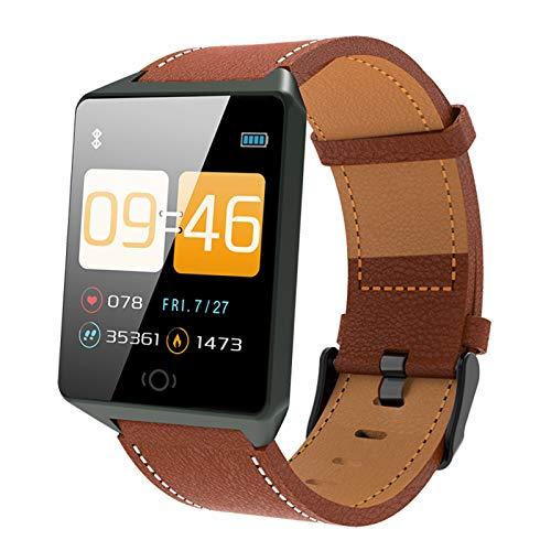 Gelrova Pulsera Actividad Impermeable IP68 Pulsera Inteligente con Pulsómetro Reloj Inteligente para Deporte Podómetro Pulsera Deporte para Android y iOS Teléfono móvil para Hombres Mujeres Niños