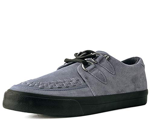 T.U.K. Shoes A9528 Unisex-Adult Sneakers, Grey Suede D-Ring VLK Sneaker - US: Men 12 / Women 14 / Grey/Suede