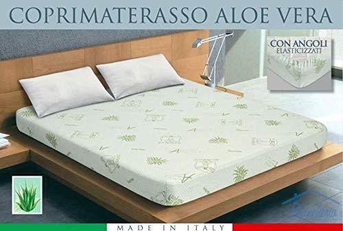 tex family COPRIMATERASSO TRAVERSA Aloe Vera BIO Natural - 2 PIAZZE