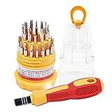 aixu 31 En 1 Multifuncional Desmontar Productos Digitales Inteligentes Herramientas De Reparación Naranja