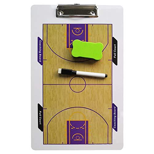 Carpeta táctica Pizarra Táctica Portapapeles Tablero de tácticas de baloncesto Borrado en seco Equipo deportivo Tablero de estrategia de entrenamiento para estrategias, con borrador de rotulador
