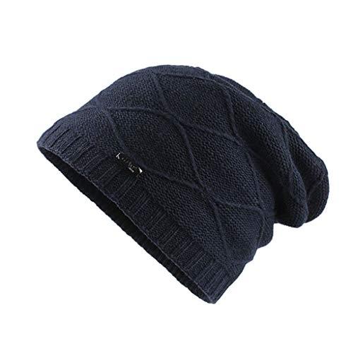 KPPONG Bonnet Tricoté d'Hiver Doublure Polaire Chapeau Chaud pour Homme/Femme/Couples/Jeunes Design Mode Classique Ski Sport Outdoor Casual Casquette