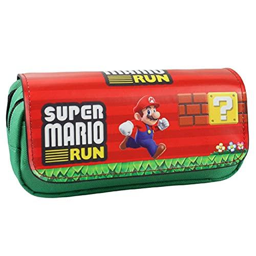 Estuche Mario Mario Estuche Estuche Super Mario Mario Nostalgic Doble Cremallera Estuche Cartera