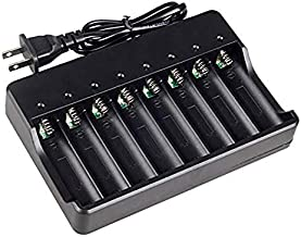 unbrand 18650 Battery Charger for Rechargeable Batteries and Universal Smart Battery Charger for 18650 26650 14500 16340 18500 10440 18350 17670 Li-Ion Intellicharge Charger 8 Bay (Not Batteries)