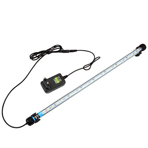 NICREW Luz Blanca LED Sumergible para Acuarios, Barra de luz Subacuatica 5W 48cm Lampara Sumergible Acuario LED, Tubos de Luz Impermeable
