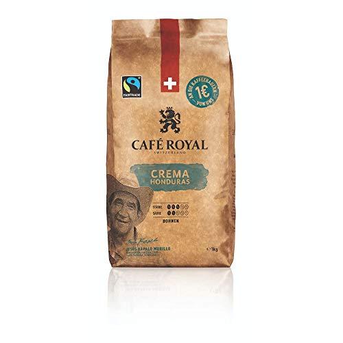 Café Royal Honduras Crema Bohnenkaffee 1kg - Fairtrade - Intensität 3/5 - 100% Arabica aus Honduras
