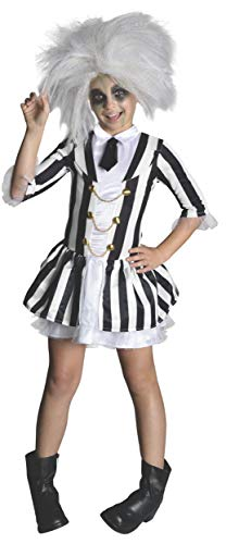 Disfraz de Beetlejuice, talla mediana para niña
