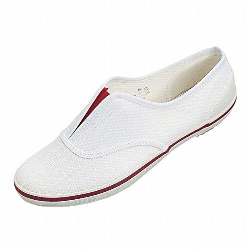 ムーンスター スクールエース3型 上履き 上靴 室内履き 体育館シューズ 21-30cm (23.0, エンジ)