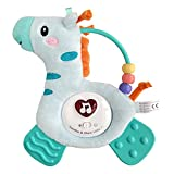 Baby Critters Musical Toys Giraffe Teething Toy for Babies,Soothing Musics, Soft Light & Color Rattle, Washable Plush Toys Hang on Crib, Stroller, Car Seat (Giraffe)