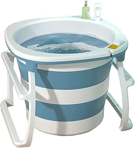 Vasca da bagno pieghevole Vasca da bagno portatile Altezza vasca da bagno con doccia Bagno rotondo vasca da bagno da bagno interno Spa Immersion Vasca da bagno Piscina per bambini Adatto per interni e